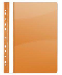 Dosar plastic cu sina si multiperforatii, portocaliu Donau