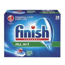 Tablete pentru masina de spalat vase, 28buc, Finish Powerball All in 1