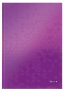 Caiet A4, 80file, matematica, coperta carton, mov, Wow Leitz