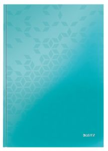 Caiet A4, 80file, matematica, coperta carton, turcoaz, Wow Leitz