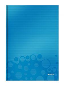 Caiet A4, 80file, matematica, coperta carton, albastru, Wow Leitz