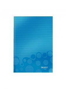 Caiet A5, 80file, dictando, coperta carton, albastru, Wow Leitz