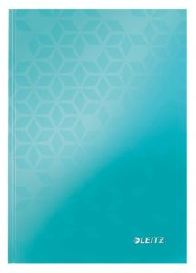 Caiet A5, 80file, matematica, coperta carton, turcoaz, Wow Leitz