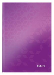 Caiet A5, 80file, matematica, coperta carton, mov, Wow Leitz