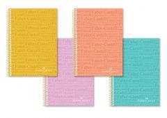 Caiet cu spira A4, 100file, dictando, coperta PP color, Faber Castell