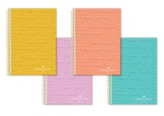 Caiet cu spira A4, 100file, matematica, coperta PP color pastel, Faber Castell