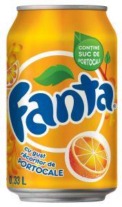 Fanta Portocale 0,33l(doza), 12buc/bax