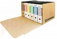 Container arhivare cutii de arhivare, cu capac, cu deschidere frontala, 555x315x360mm, negru/kraft,