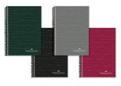 Caiet cu spira A4, 80file, matematica, coperta PP color, culori clasice, Faber Castell