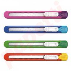 Cutter 9 mm plastic diverse culori Deli