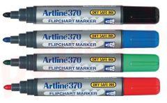 Flipchart marker 4culori/set, varf 2,0 mm, Artline 370