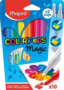 Carioca 8 culori+2 magink/set Color Peps Magic Maped