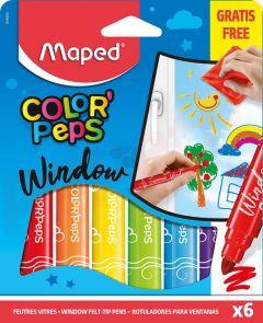 Carioca 6 culori/set, pentru geam, Color Peps Window Maped