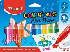 Carioca 12 culori/set Color Peps Mini Power Maped