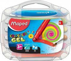 Creioane colorate cerate pe baza de gel solid, 6culori/set, Color Peps Gel Maped