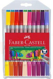 Carioca 2 varfuri, 20culori/set Faber Castell-FC151119