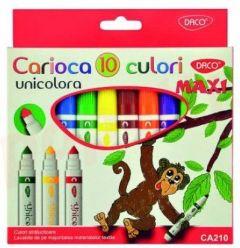Carioca 10 culori/set Maxi Unicolora Daco