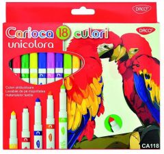 Carioca 18 culori/set Unicolora Daco