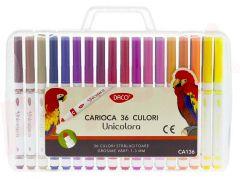 Carioca 36 culori/set, CA136, Unicolora Daco