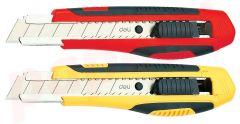 Cutter 18 mm cu sina metalica si grip + rezerva cutter Deli