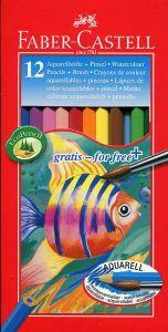 Creioane colorate acuarela, 12culori/set, Faber Castell-FC114413