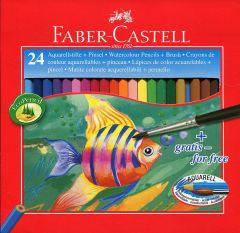 Creioane colorate acuarela, 24culori/set, Faber Castell-FC114425