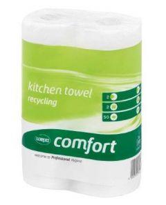 Prosop hartie alb, 2 straturi, 2 role/set, Comfort Wepa