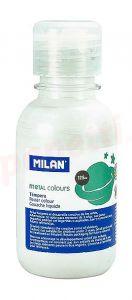 Tempera pe culoare, tub 125ml, alb metalizat, Milan