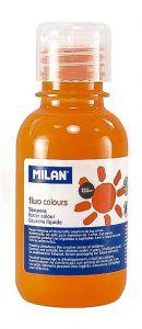 Tempera pe culoare, tub 125ml, portocaliu fluorescent, Milan