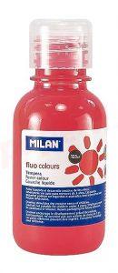 Tempera pe culoare, tub 125ml, rosu coral fluorescent, Milan