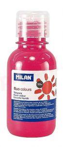 Tempera pe culoare, tub 125ml, roz fluorescent, Milan