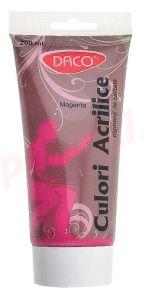 Culori acril, tub 200ml, roz magenta, Daco