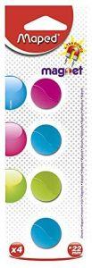 Magneti, 22mm, culori asortate, 4buc/set, Maped