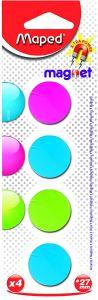 Magneti, 27mm, culori asortate, 4buc/set, Maped