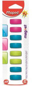 Magneti rectangulari, 27mm, culori asortate, 8buc/set, Maped
