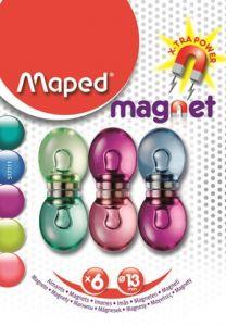 Magneti fancy, 13mm, culori asortate, 6buc/set, Maped