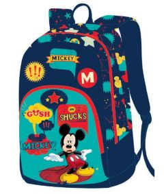 Ghiozdan scolar clasele I-IV, MKRS1724-2, albastru-verde, Mickey Mouse Pigna