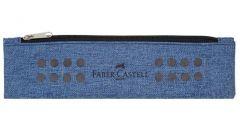 Penar neechipat, 1 fermoar, tip borseta, albastru, Faber Castell-FC573151