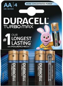 Baterie alcalina, cilindrica, R6, AA, 4buc/set, Turbo Max Duracell