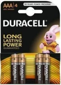 Baterie alcalina, cilindrica, R3, AAA, 4buc/set, Duracell