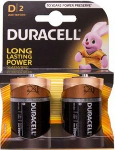 Baterie alcalina, cilindrica, R20, D, 2buc/set, Duracell