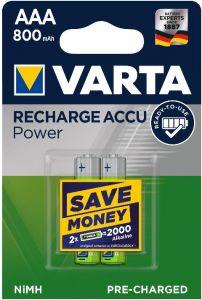 Acumulator reincarcabil, 1,2V, 800mAh, AAA, R3, 2buc/set, Varta