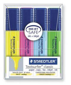 Textmarker 4 culori/set (galben, roz, albastru, verde), Classic Staedtler