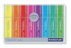 Textmarker pastel 8 culori/set (galben, portocaliu, rosu, roz, mov, albastru, vernil, verde), Classi