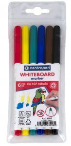 Whiteboard marker 6 buc/set (albastru, negru, rosu, verde, maro, galben), varf 2,0 mm, 2507 Centrope