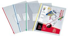 Mapa plastic transparent cu fermoar diverse culori A4, Deli