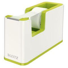Banda adeziva cu dispenser, 19mm x 33m, alb/verde metalizat, Wow Leitz
