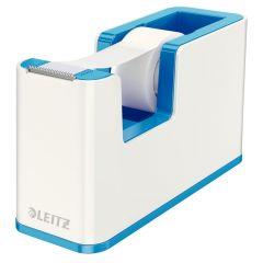 Banda adeziva cu dispenser, 19mm x 33m, alb/albastru metalizat, Wow Leitz