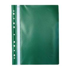 Dosar plastic cu sina si multiperforatii, verde, Noki