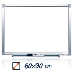 Whiteboard magnetic, 60cm x 90cm, Visual